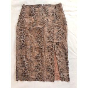 Free People Lamb Leather High Waist Skirt